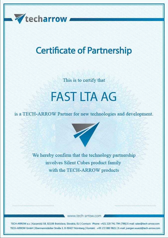 FAST LTA certificate