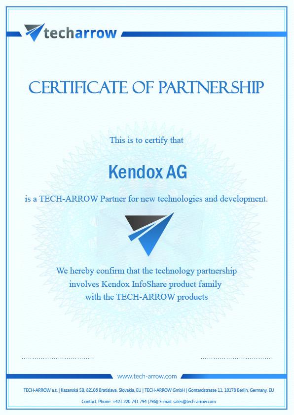 certificate_techarrow-kendox