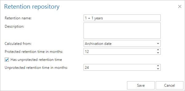 Retention repository
